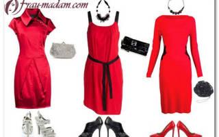 Какого цвета туфли и другую обувь можно одеть с красным платьем? Какие цвета идут блондинкам