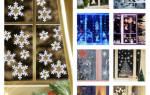 Как приклеить трафарет из бумаги на окно. Как украсить окна перед новым годом: новогодние трафареты на окна на любой вкус