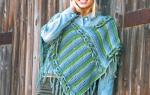 Вязание детского пончо. Как связать пончо крючком схемы и описание