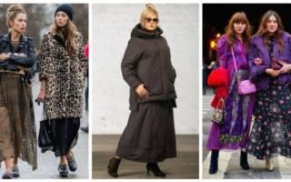 Фасон юбки из плотной ткани. С чем же носить длинную юбку зимой? Теплые зимние юбки