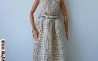 Как связать бальное платье для барби крючком. Новая вязаная одежда для барби