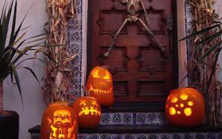 Идеи к хеллоуину. Идеи украшения дома на Хэллоуин — фото. Идеи для Хэллоуина: гирлянда из светящихся привидений