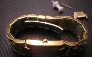 Как укоротить браслет часов? Практические советы. Мастерская в домашних условиях: как снять звенья с часов
