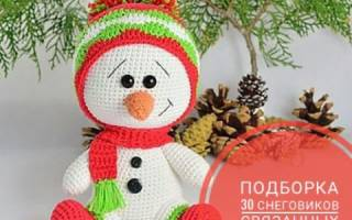 Вяжем снеговика сему. Вязаный снеговик (крючок): схемы, описание, мастер-класс для начинающих