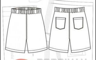 Выкройка мужских шорт на резинке. Выкройка мужских шорт: снятие замеров, построение выкройки, советы для начинающих швей и опытных мастеров в видео уроках