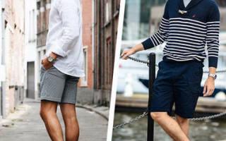 Мужские шорты: как выбрать, с чем носить. Летние мужские шорты