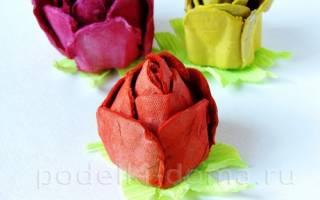 Цветы из яичных кассет своими руками. Делаем папье-маше из яичных лотков: инструкция пошагово