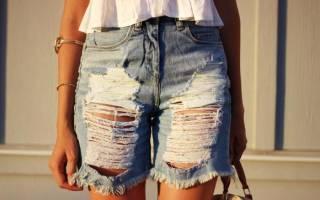Женские шорты из джинс. С чем носить рваные женские джинсовые шорты? Шикарные блестящие шортики с пайетками