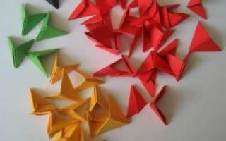 Треугольные модули из бумаги. Как сделать модуль для оригами: пошаговые инструкции и освоение техники на примере лебедя