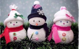 Как сделать снеговика из носка пошаговое. Снеговик из носка своими руками: мастер класс
