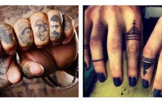 Татуировка на безымянном пальце левой руки