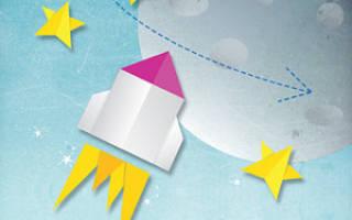 Как сделать ракету из картона технология. Ракета из бумаги и картона на палочке: схема с инструкцией и фото