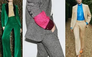 Последние тренды в женской моде. Офисные брючные костюмы. Тренчи в тренде