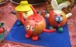 Какую поделку можно сделать из морковки. Человек и чебурашка из овощей в детский сад и для школы. Фото-идеи осенних поделок из овощей и фруктов в детский сад