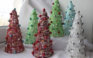 Ажурные шары и елочки из ниток — просто и эффектно! Новогодние шары из ниток своими руками пошагово с фото