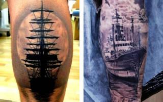 Значение татуировки корабль с парусами на руке. Татуировка корабль