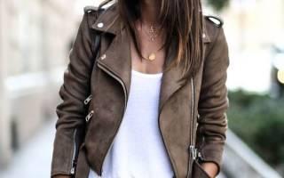 С чем носить кожаную куртку, чтобы выглядеть стильно. Платье с кожаной курткой: самые стильные образы