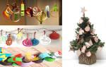 Объемные елочные игрушки из бумаги. Делаем новогодние игрушки своими руками: фото идеи