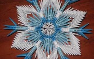 Модульное оригами снежинка. Снежинки в технике модульное оригами. Мастер-класс с пошаговыми фото