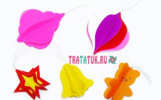 Елочные игрушки шаблоны распечатать. Объемные елочные игрушки из бумаги: пошаговый фото-обзор