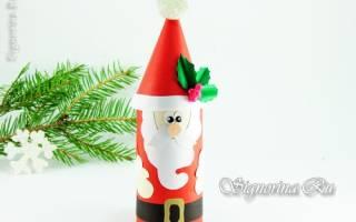 Как сделать Деда Мороза под ёлку своими руками. Мастер-класс с пошаговыми фото. Дед мороз из цветной бумаги
