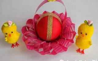 Подставки и корзиночки для пасхальных яиц из бумаги. Подставка для пасхального яйца своими руками. Мастер-класс с пошаговыми фото