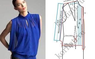 Как сшить прямую блузку с короткими рукавами. Простые выкройки блузок из шифона