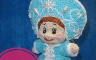 Снегурочка вязание крючком схема и описание. Снегурочка крючком: мастер-класс по созданию куклы