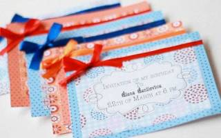 Пригласительные на детский день рождения своими руками. Красивое приглашение своими руками на день рождения: оригинальные идеи, шаблоны, схемы, материалы