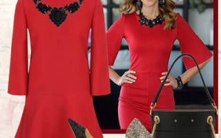 Что лучше одеть с красным платьем карандаш. Аксессуары к красному платью (фото). Сумки и аксессуары к красному платью-рубашке