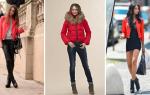 Какой цвет шарфа подойдет к красной куртке. Красная куртка женская. С чем носить на официальные мероприятия. С чем носить серую и зеленую кожаную куртку