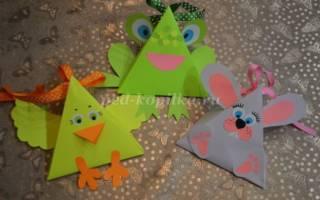 Оригами зайчик-коробка из бумаги. Коробочки для пасхальных сувениров из бумаги своими руками. Мастер — класс с пошаговыми фото Как сделать зайца из коробки