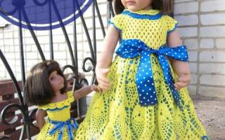 Вязание одежды для кукол крючком. Одежда для куклы Барби и Монстер Хай крючком и спицами: схемы с описанием, фото. Как связать платье для куклы Барби и Монстер Хай крючком для начинающих