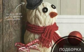 Вяжем снеговика сему. Как связать снеговика – новогоднюю игрушку. Мастер-класс по вязанию снеговика крючком
