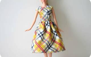 Шьем платье для барби начинающих. Платье для барби — лучшие выкройки, советы как сшить и украсить кукольную одежду (105 фото)