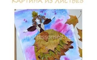Портрет девушки из листьев. Картина из цветов и листьев своими руками. Мастер-класс с пошаговыми фото