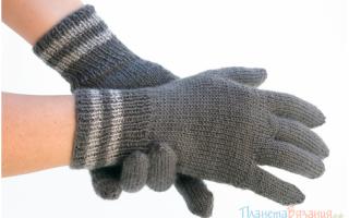 Вязаные перчатки спицами. Как связать перчатки спицами для начинающих пошагово? Перчатки спицами: простой способ