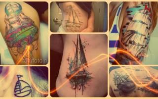 Что означает татуировка корабля. Значения тату парусник