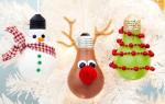 Новогодние игрушки из лампочек своими руками пошагово. Елочная игрушка Снеговик своими руками из лампочек. Просто блестяще: елочные украшения из старых лампочек