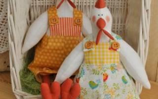 Курица и петух Горошкины (по мотивам выкройки тильда). Шьем тильду — петуха