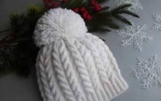 Красиво закрыть шапку. Видео: Вязание шапки спицами узором «Косы». Косы и узоры