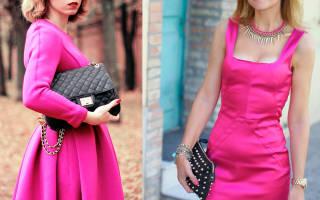 Модные платья цвета фуксии. Цвет фуксия — это какой? Фото и описание. Цвет фуксия, сочетание с другими цветами