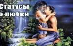 Предложения про любовь в статус. Мудрые статусы о любви