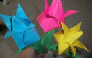Тюльпаны из бумаги своими руками пошаговое. Как сделать тюльпан из бумаги