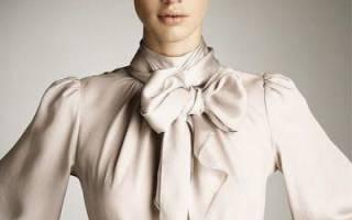 Как завязать бант на блузке на шее. С чем не стоит носить блузку с бантом? Элегантные блузки из шифона с бантом