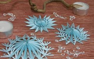 Как собрать елку из вырезанных снежинок. Пошаговое описание изготовления снежинок из бумаги своими руками в стиле оригами. #4 Бисер и биконусы