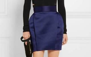 Стильные юбки из атласа — фото и мода. Атласная юбка – особенности материала, с чем носить и кому подойдет