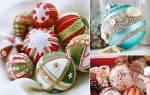 Новогодняя гроздь из пенопластовых шаров своими руками. Новогодние шары своими руками: фейерверк блестящих идей! Как ещё можно украсить новогодние шары на ёлку: идеи с отпечатками пальцев, витражными красками, солью