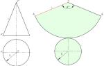 Как сделать конус из ватмана пошаговая. Как сделать развертку – выкройку для конуса или усеченного конуса заданных размеров. Простой расчет развертки