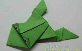 Бумажная лягушка как сделать пошагово. Как сделать лягушку из бумаги, которая прыгает. Простая лягушка из бумаги